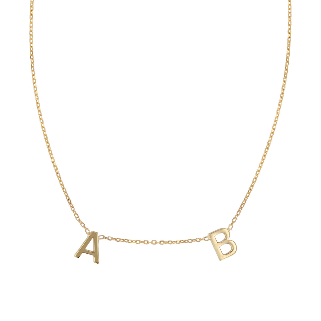 Double Petite Letter Necklace
