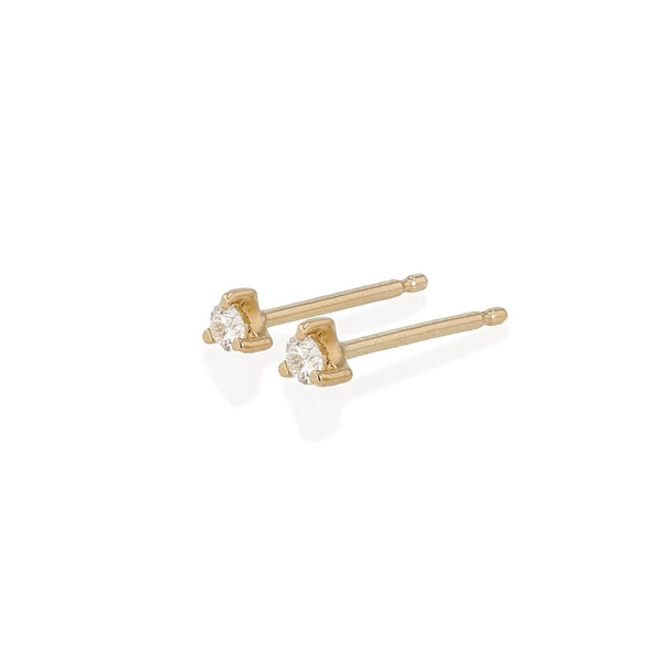 Element Stud Earrings Yellow Gold | Sarah & Sebastian