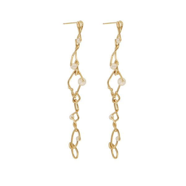 Enmesh Pearl Earrings Gold | Sarah & Sebastian