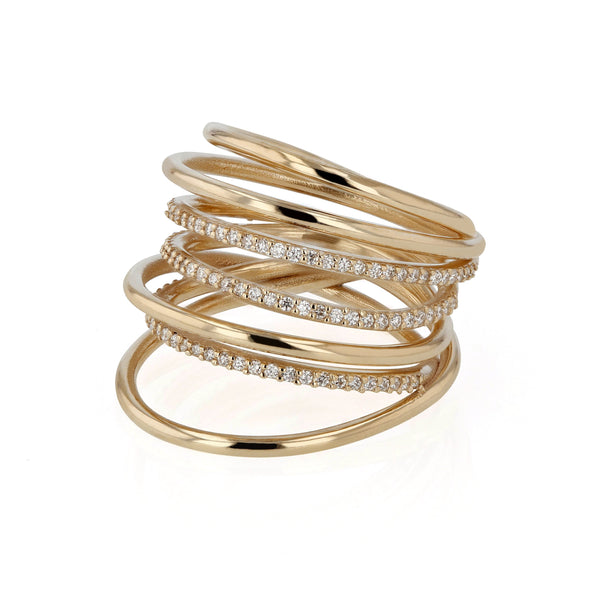 Entangled Diamond Ring Yellow Gold | Sarah & Sebastian