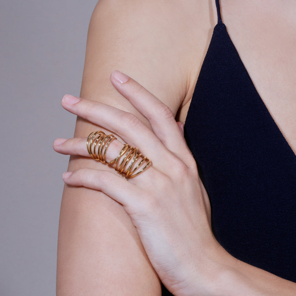 Entangled Hinge Ring | Vermeil