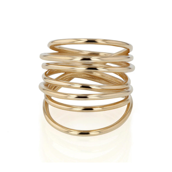 Entangled Ring Yellow Gold | Sarah & Sebastian