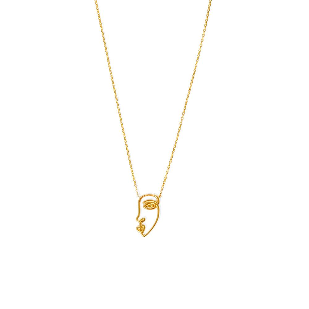 Face Necklace (Gold)