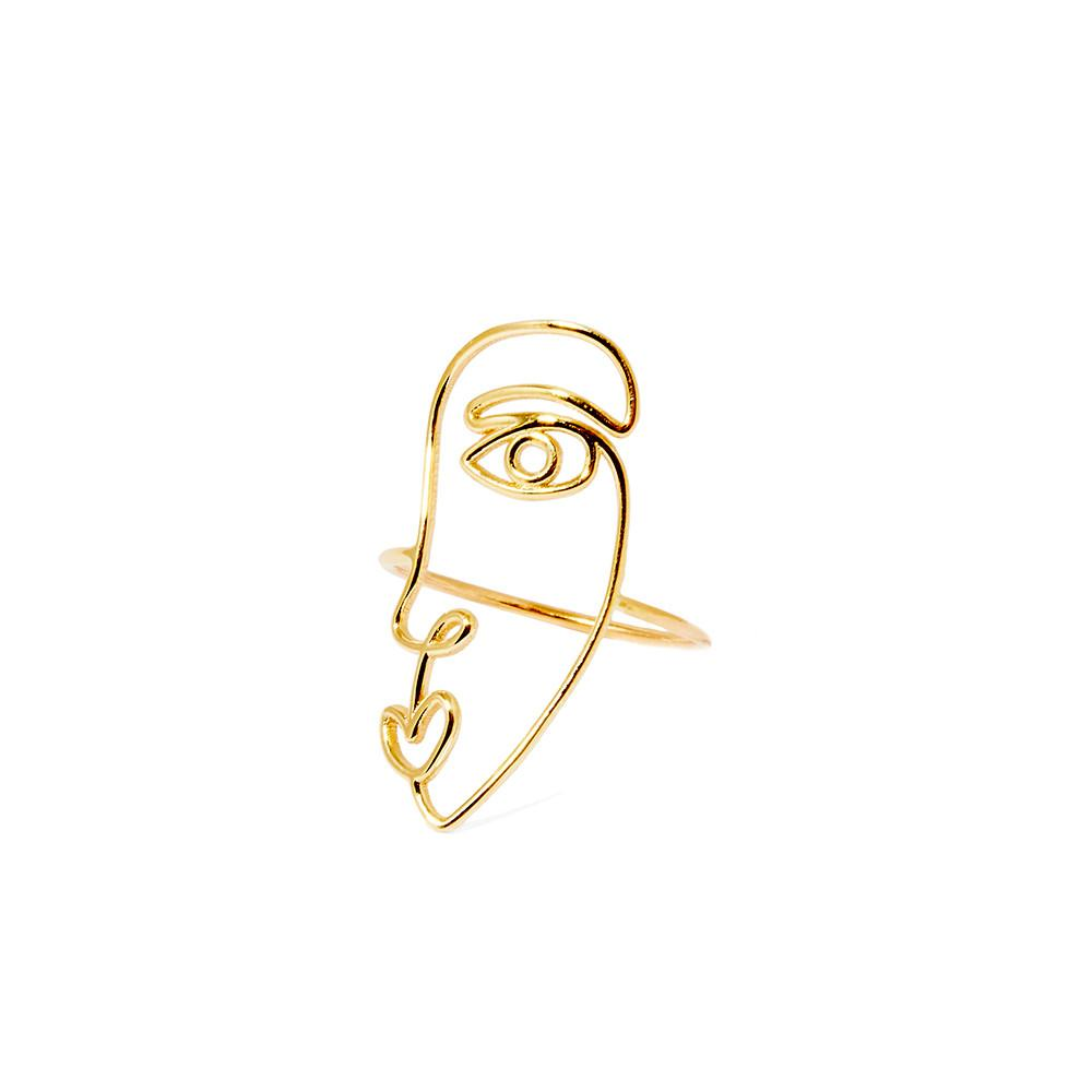 Face Ring (Gold)