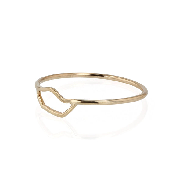 Fine Kintsugi Ring Yellow Gold | Sarah & Sebastian