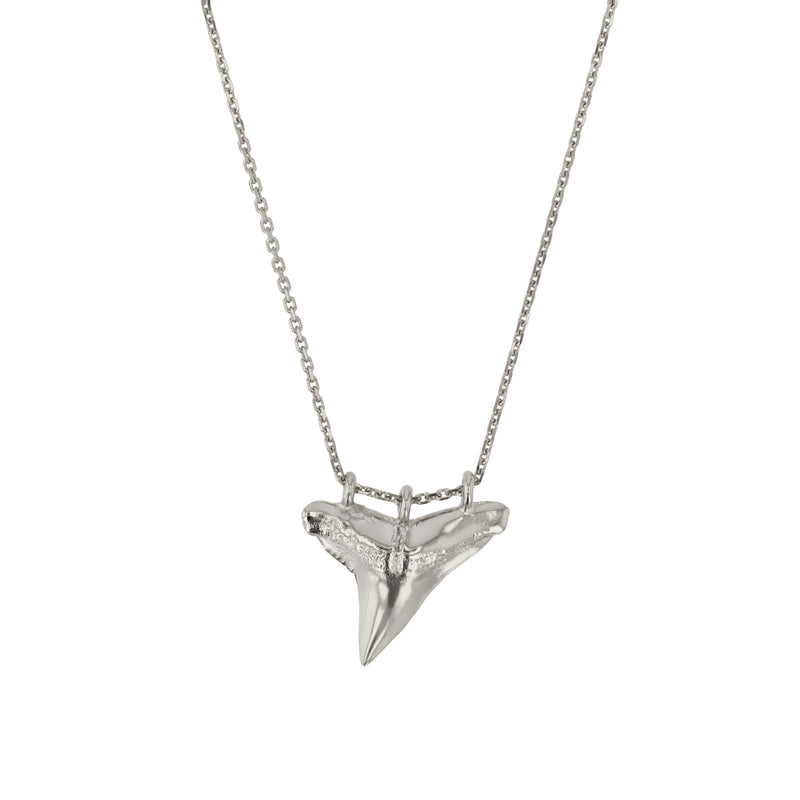 Fine Reef Shark Necklace Silver | Sarah & Sebastian