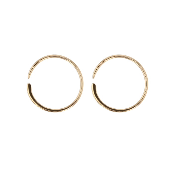 Minimal Forge Sleep Hoops Gold | SARAH & SEBASTIAN