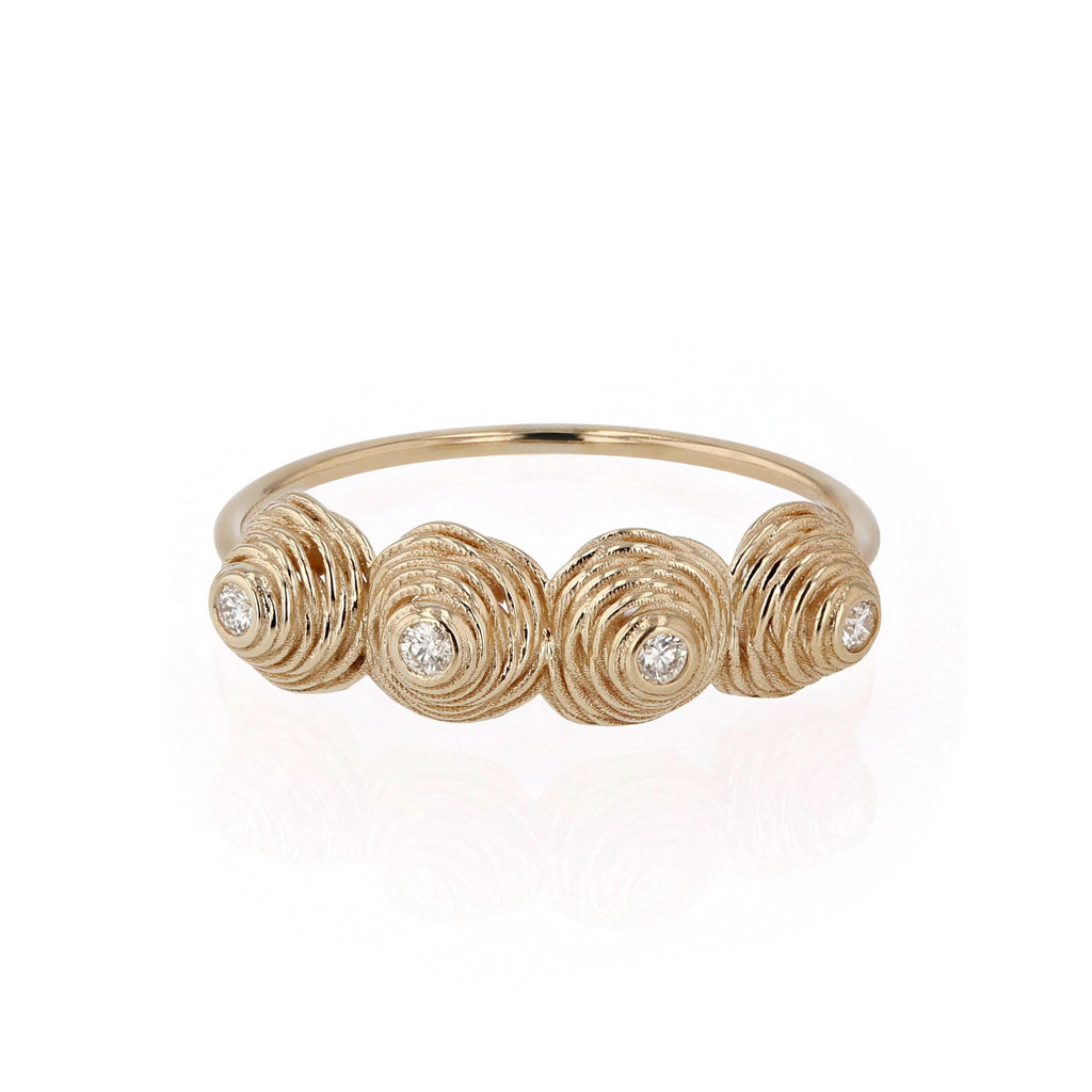 Four Coil Diamond Ring