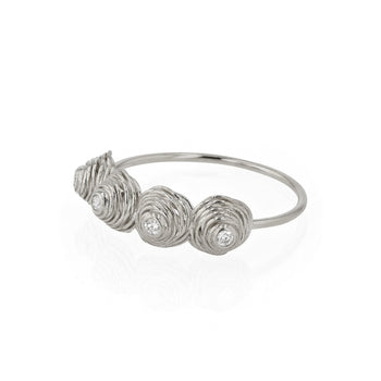 Four Coil Diamond Ring Silver | Sarah & Sebastian