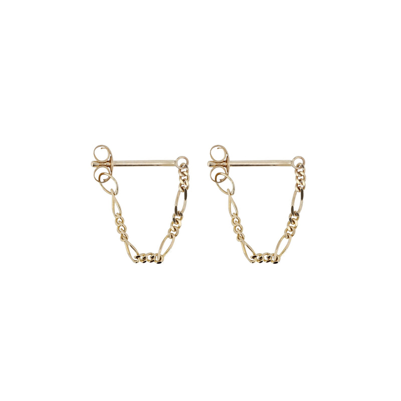 Figaro Molly Earrings Gold | Sarah & Sebastian
