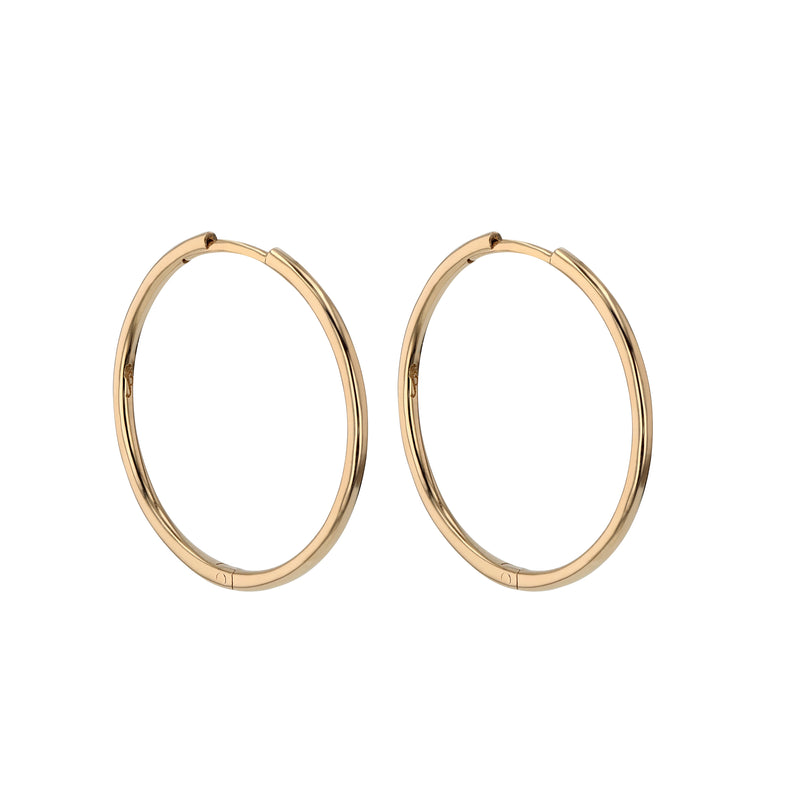 Fine Hoop Earrings 20mm Gold | Sarah & Sebastian
