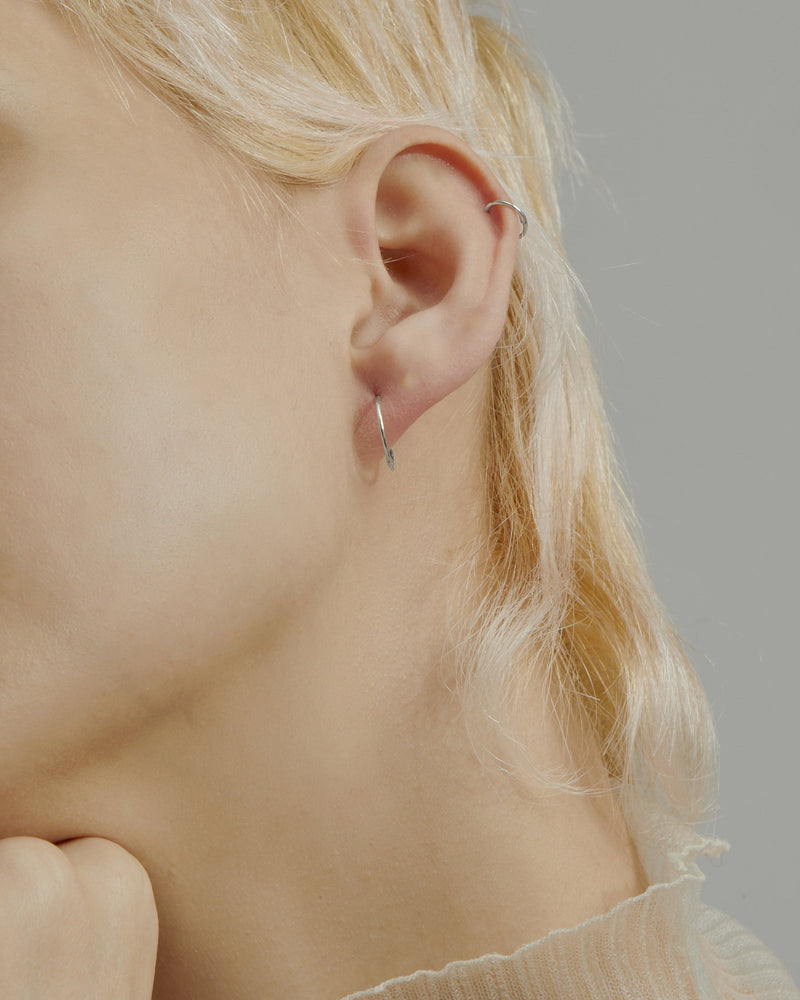 Fine Hoop Earrings White Gold | Sarah & Sebastian onBody