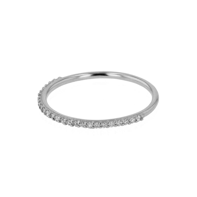 Fine Diamond Demi Ring White Gold | Sarah & Sebastian