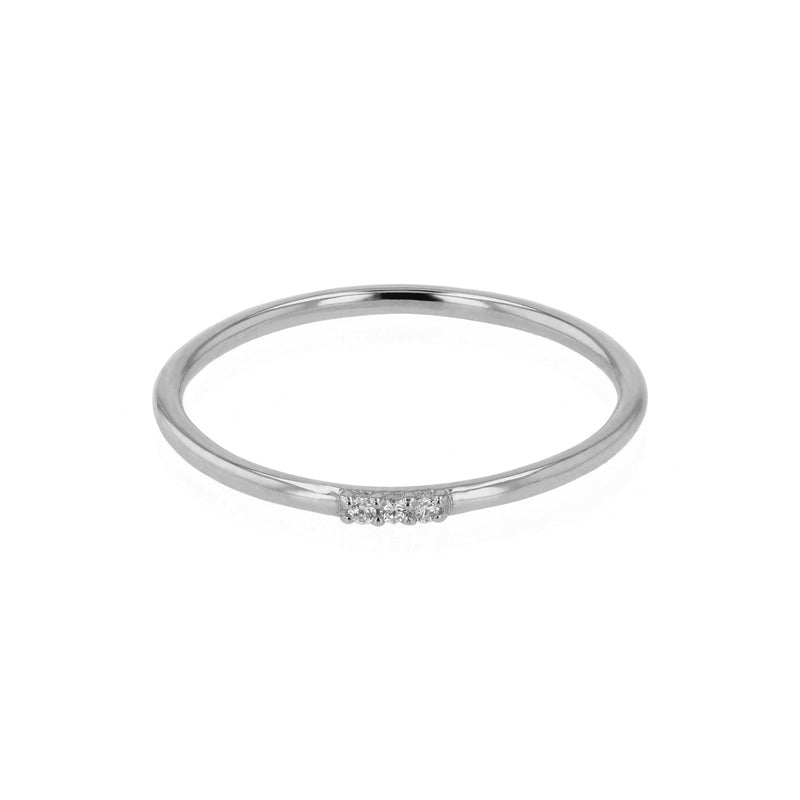 Fine Diamond Triplet Ring White Gold | Sarah & Sebastian