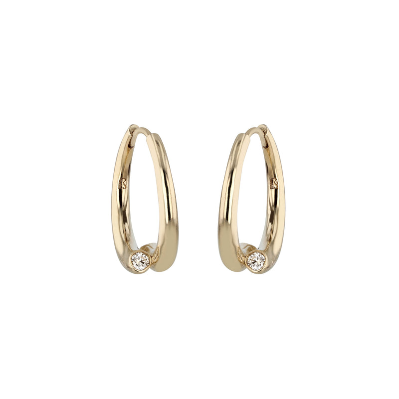 Demi Wave Hoop Earrings Gold | Sarah & Sebastian
