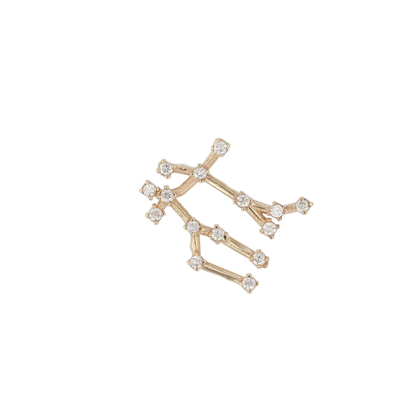 Single Celestial Gemini Earring Yellow Gold | Sarah & Sebastian