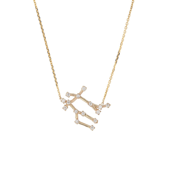 Celestial Gemini Necklace Yellow Gold | Sarah & Sebastian