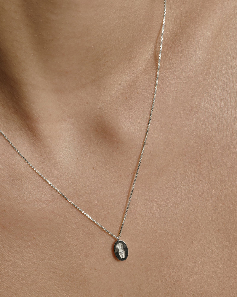 Gaia Diamond Necklace Gold | Sarah & Sebastian onBody