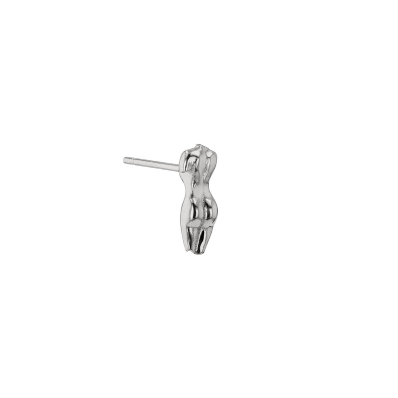 Single Gaia Earring II Silver | Sarah & Sebastian