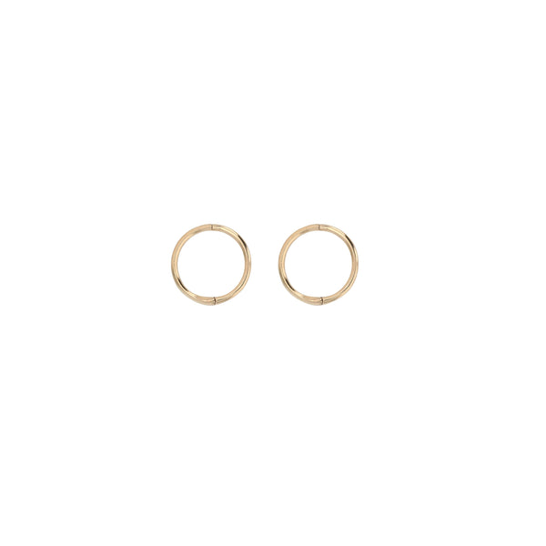Fine Hoop Earrings 8mm Gold | Sarah & Sebastian