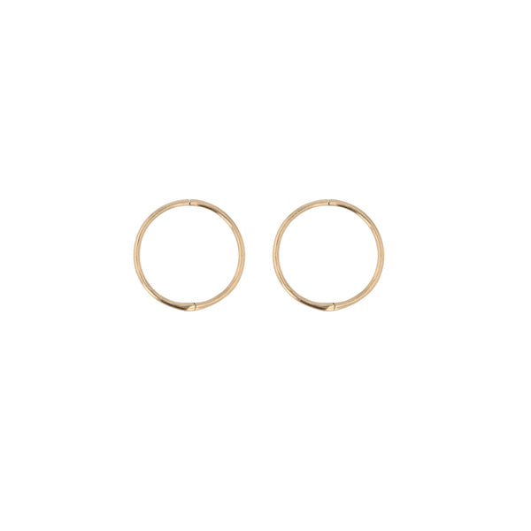Fine Hoop Earrings 12mm Gold | Sarah & Sebastian