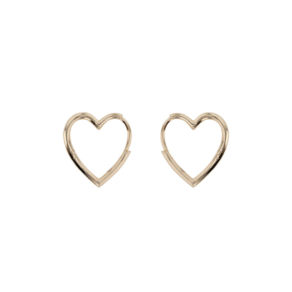 Heart Hoops Gold | Sarah & Sebastian