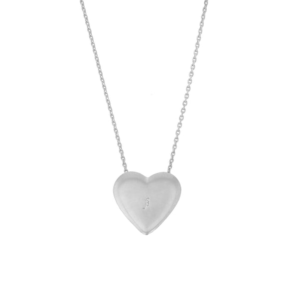 Heart Diamond Locket Necklace White Gold | Sarah & Sebastian