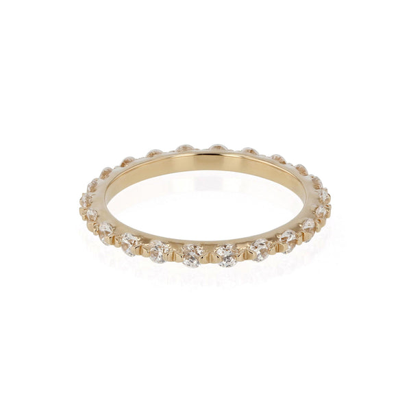 Diamond Infinity Ring Yellow Gold | SARAH & SEBASTIAN