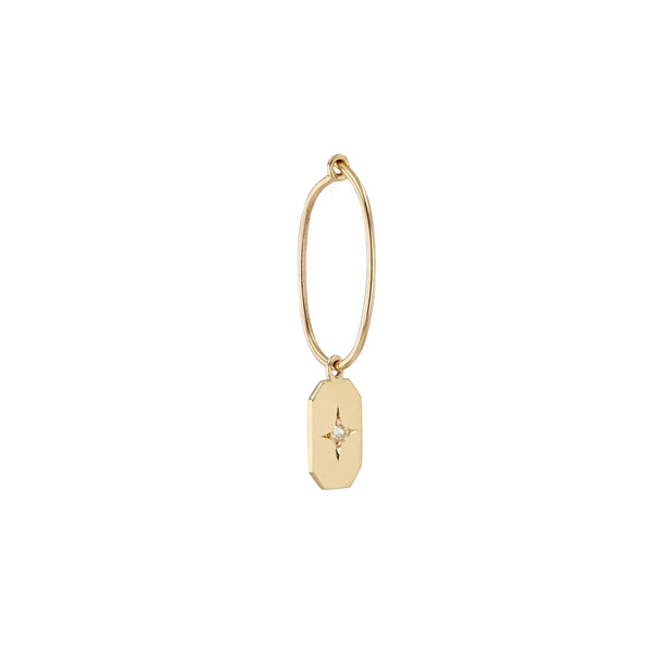 Single Insignia Diamond Hoop Yellow Gold | Sarah & Sebastian