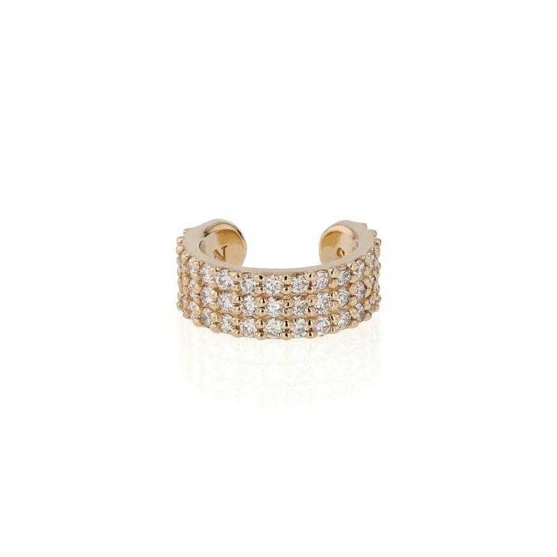 Single Ice Diamond Ear Cuff Gold | Sarah & Sebastian