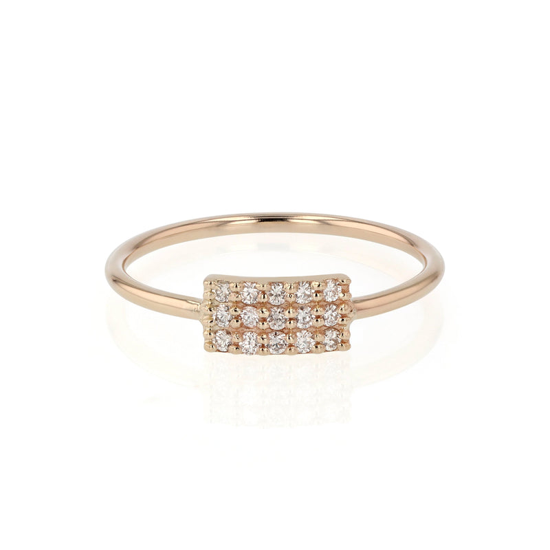Ice Diamond Fine Ring Gold | Sarah & Sebastian