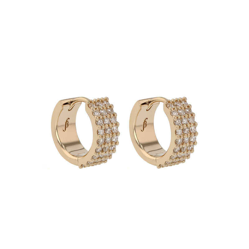 Ice Diamond Hoops Gold | Sarah & Sebastian