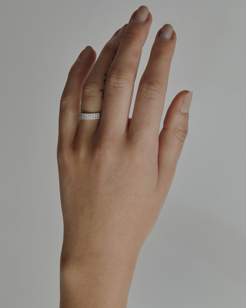 Ice Diamond Ring White Gold | Sarah & Sebastian onBody