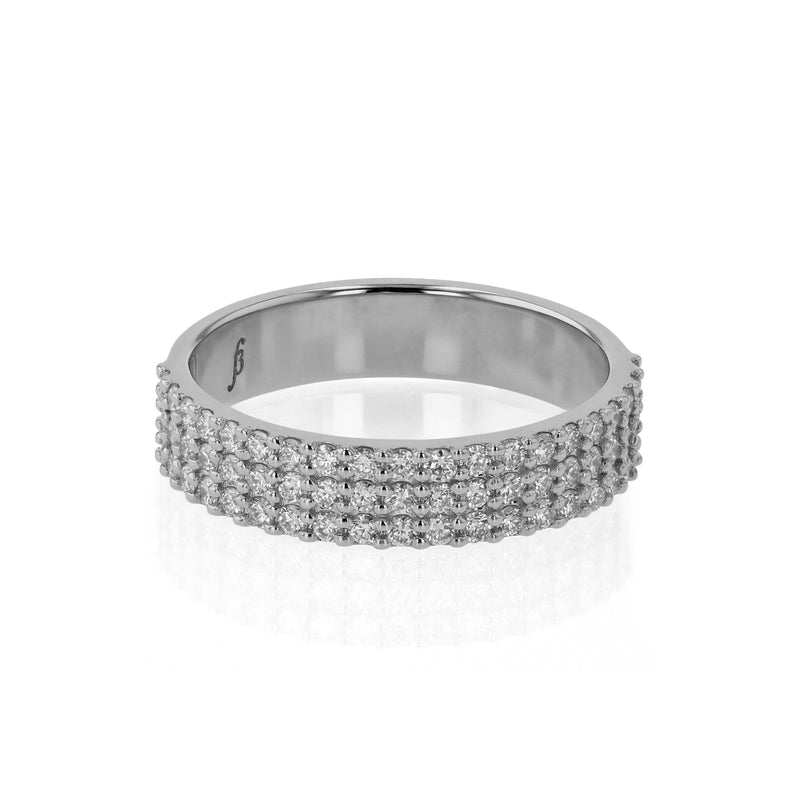 Ice Diamond Ring White Gold | Sarah & Sebastian