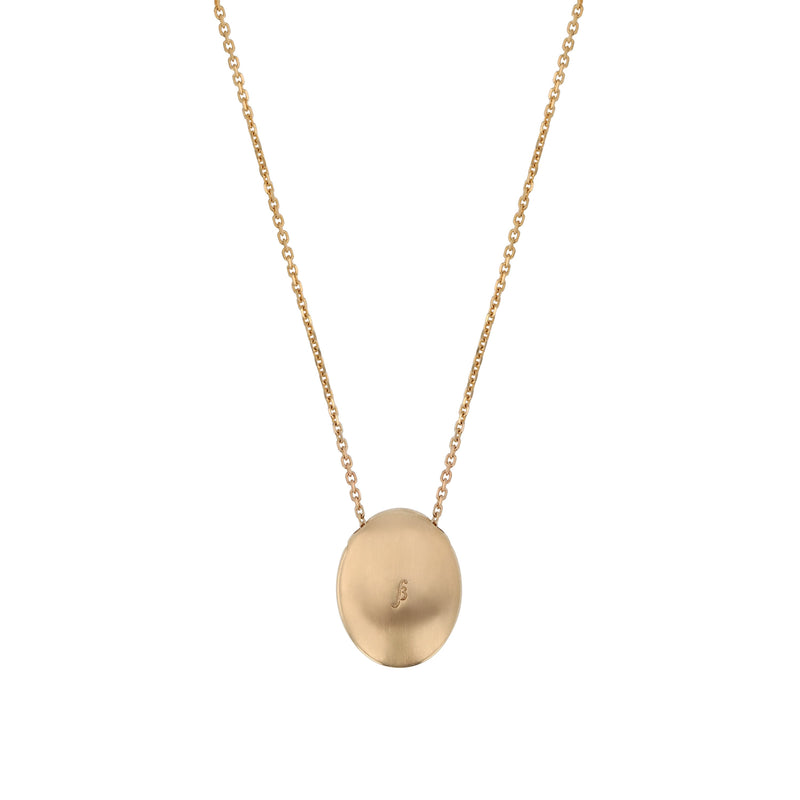 Oval Insignia Diamond Locket Necklace Gold | Sarah & Sebastian