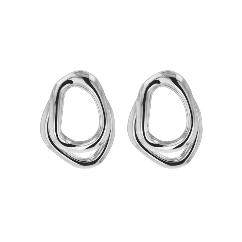Statement Jelly Double Earrings Silver | Sarah & Sebastian