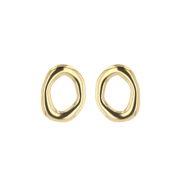 Jelly Stud Earrings Gold | Sarah & Sebastian