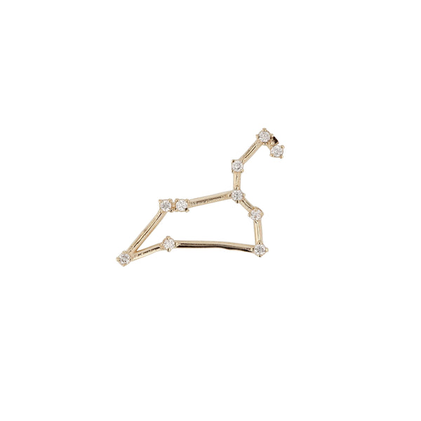 Single Celestial Leo Earring Yellow Gold | Sarah & Sebastian