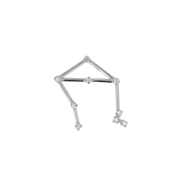 Single Celestial Libra Earring White Gold | Sarah & Sebastian