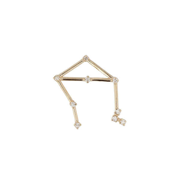 Single Celestial Libra Earring Yellow Gold | Sarah & Sebastian