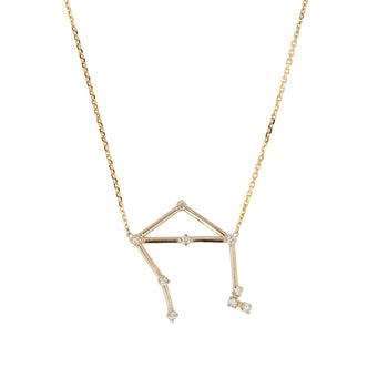 Celestial Libra Necklace Yellow Gold | Sarah & Sebastian