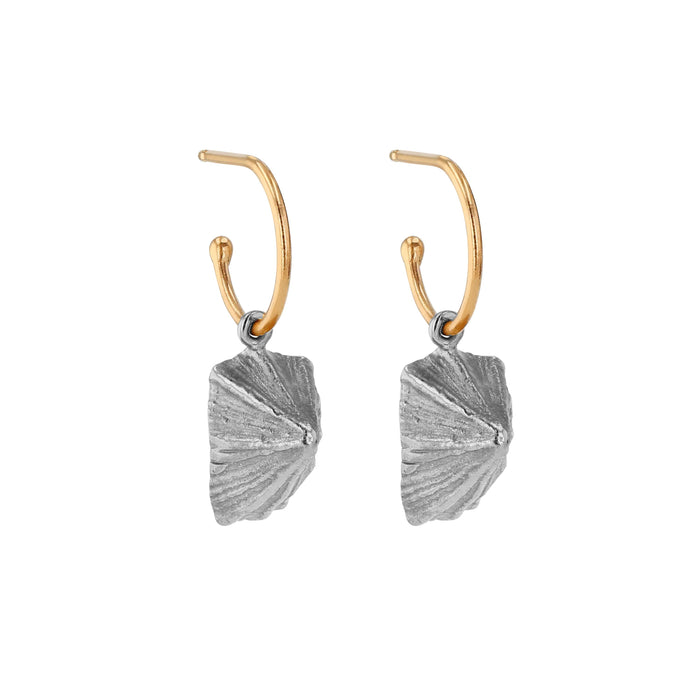 Limpet Shell Hoops Mixed Metal | Sarah & Sebastian
