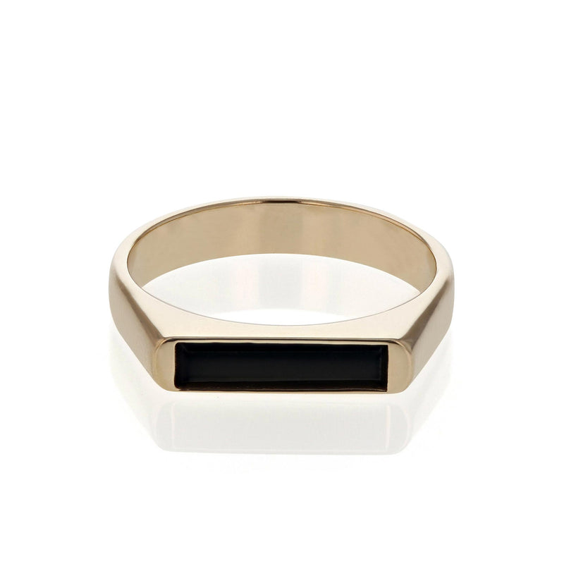 Onyx Line Unity Ring Yellow Gold | SARAH & SEBASTIAN