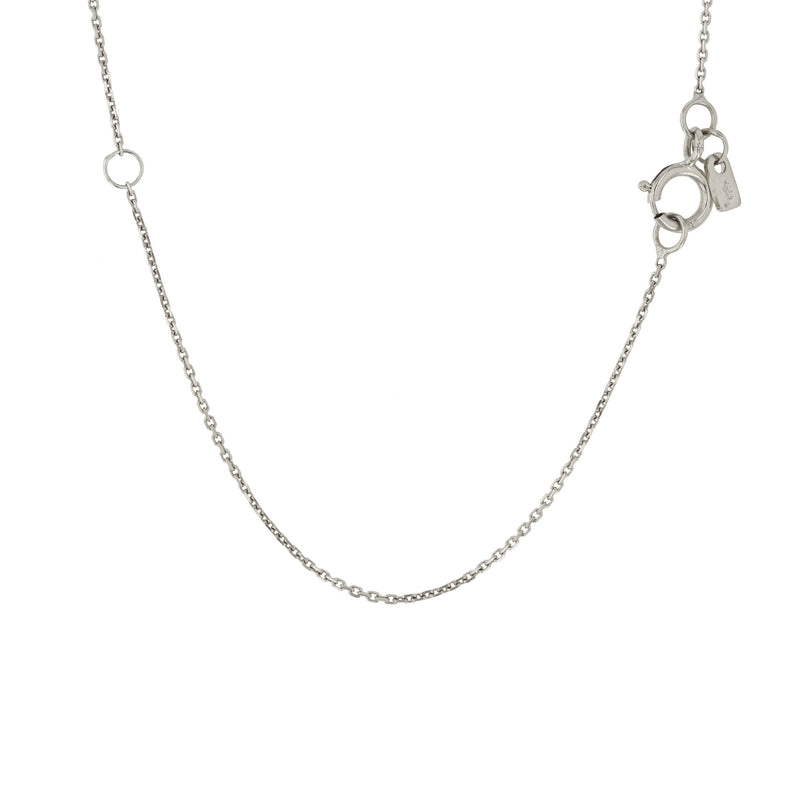 Oval Insignia Diamond Locket Necklace White Gold | Sarah & Sebastian