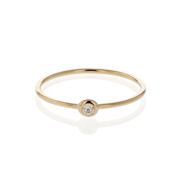 Diamond Lunette Ring Yellow Gold | Sarah & Sebastian