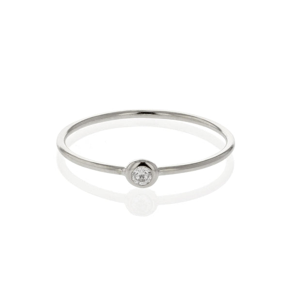 Diamond Lunette Ring White Gold | Sarah & Sebastian