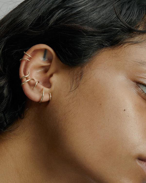 Large Stinger Earrings Gold | Sarah & Sebastian onBody
