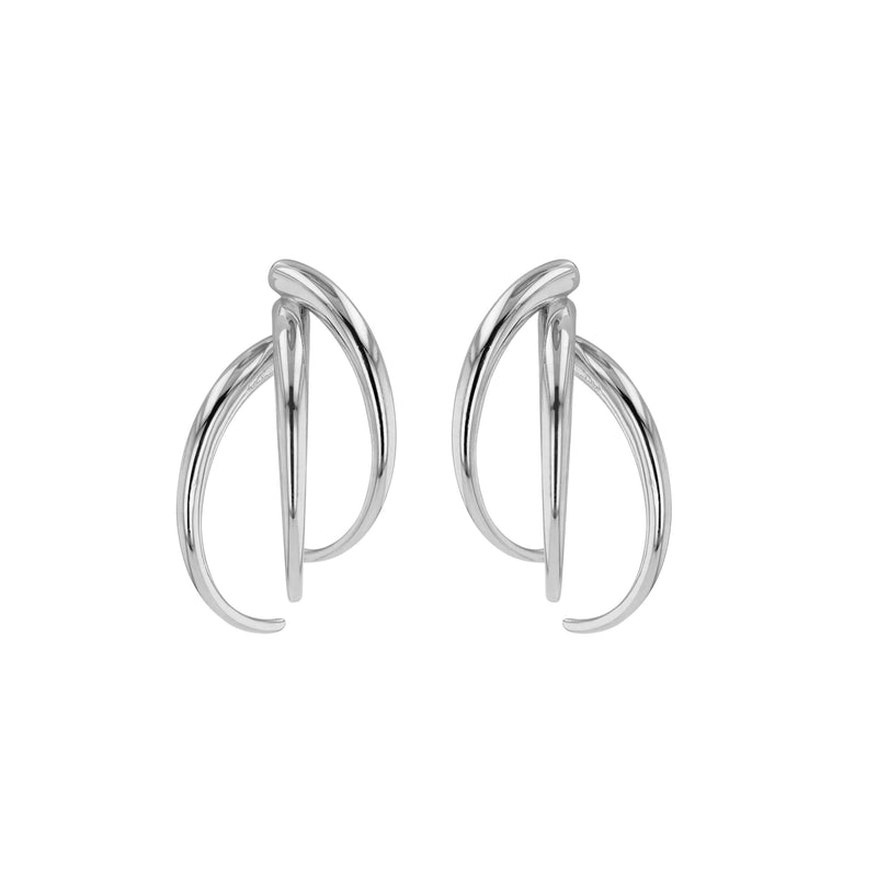 Statement Large Stinger Earrings Silver | Sarah & Sebastian