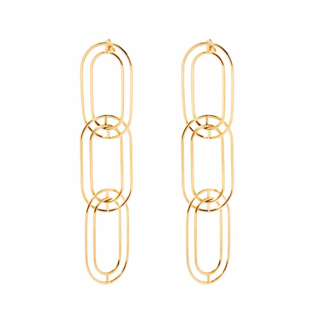 Large Link Earrings