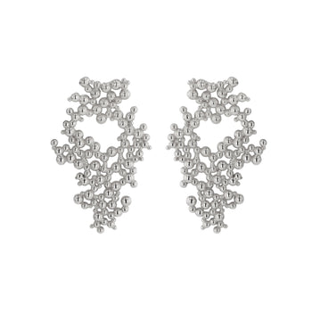 Large Papilla Earrings Silver | Sarah & Sebastian